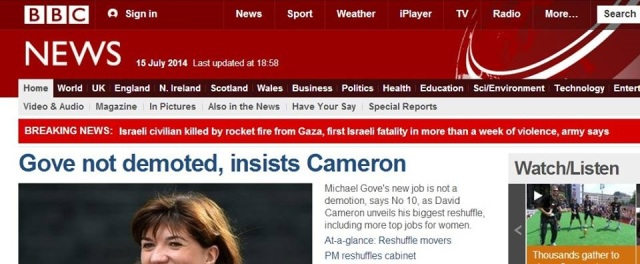 BBC News website, 15/07/2014, ht. Hich Yezza