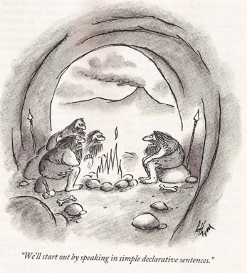 Cavemen-Speaking